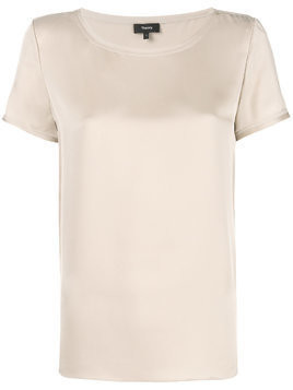 Theory short-sleeve shift blouse - Nude & Neutrals