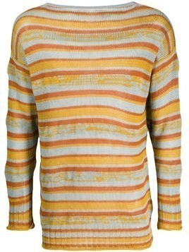 Federico Curradi striped boatneck sweater - Yellow