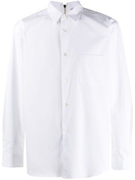 Comme Des Garçons Shirt zip-back collared shirt - White