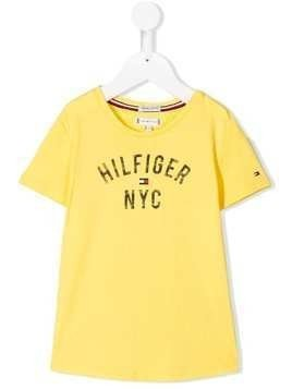 Tommy Hilfiger Junior logo print T-shirt - Yellow