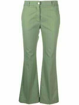 Incotex cropped chinos trousers - Green