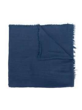 Monnalisa fringed edge scarf - Blue