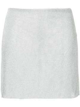 Kacey Devlin contour mini skirt - Metallic