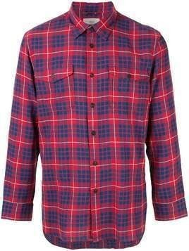 Kent & Curwen long-sleeved checked shirt - Red