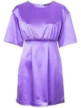 Cynthia Rowley Rush Satin Mini Dress - Purple