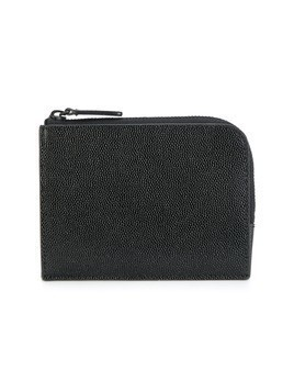 Common Projects logo embossed zipped wallet - Black