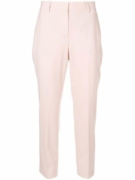 Theory cropped high waisted trousers - Pink & Purple