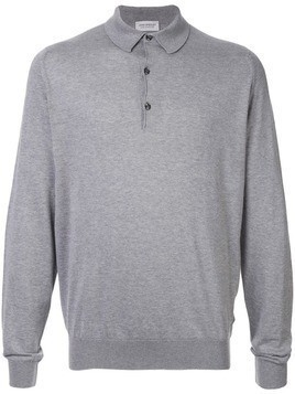 John Smedley long-sleeve polo shirt - Grey