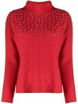 Blumarine rhinestone-embellished jumper - Red