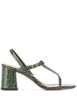 L'Autre Chose croc effect sandals - Green