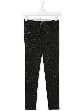 Stella Mccartney Kids TEEN polka dot printed jeans - Black