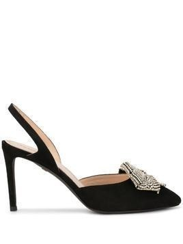 Giambattista Valli bow detail slingback pumps - Black