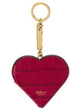 Mulberry Heart Portrait keyring - Red
