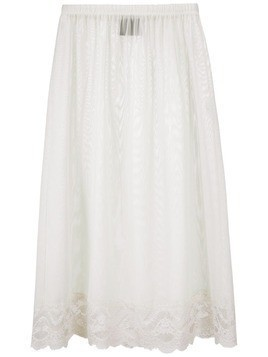 Andrea Bogosian Powder lace panel tulle skirt - White