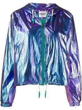 Essentiel Antwerp metallic hooded jacket - Blue