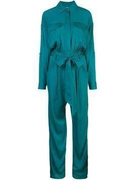 Milly belted waist jumpsuit - Green