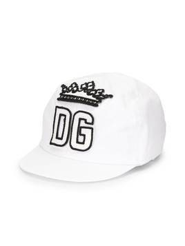 Dolce & Gabbana Kids DG embroidered cap - White