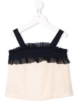 Hucklebones London ruffle suntop - Neutrals