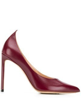 Francesco Russo pointed stiletto pumps - Red