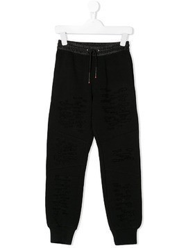 Diesel Kids ripped-effect track pants - Black