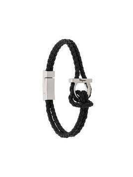 Salvatore Ferragamo braided Gancini bracelet - Black