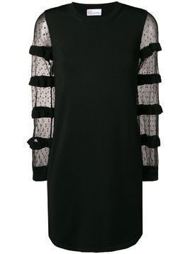 Red Valentino see through dress - Black