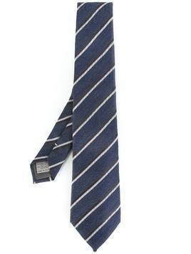 Canali striped tie - Blue