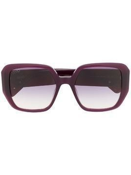 LIU JO gradient lens sunglasses - Red