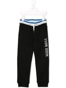 Boss Kids logo printed joggers - Black