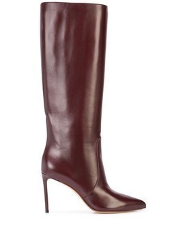 Francesco Russo knee high boots - Red