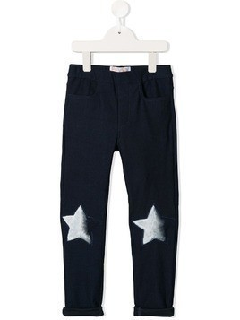 Efvva star patch trousers - Blue