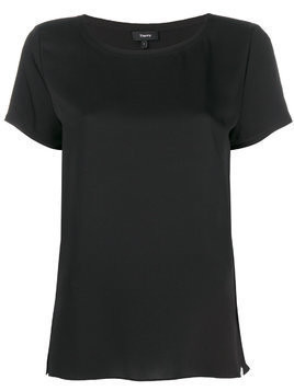 Theory short-sleeve shift blouse - Black