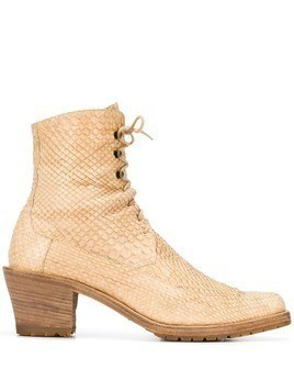 A.N.G.E.L.O. Vintage Cult 1990's lace-up ankle boots - Neutrals