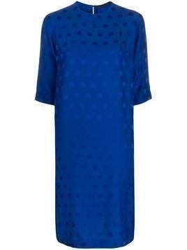 Haider Ackermann polka-dot jacquard dress - Blue