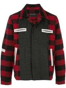 Craig Green panelled flannel jacket - Red
