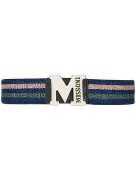 M Missoni logo buckle waist belt - Blue