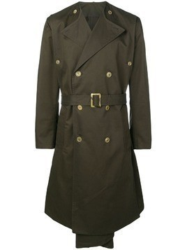 Hed Mayner midi trench coat - Green