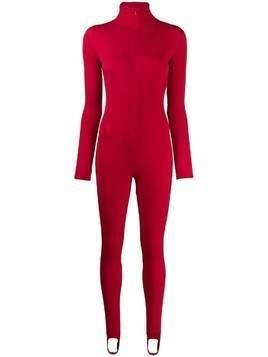 Atu Body Couture zip up jumpsuit - Red