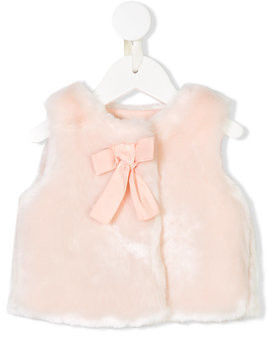 Chloé Kids faux fur gilet - Pink & Purple