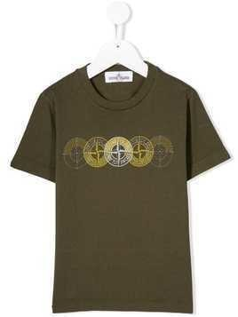 Stone Island Junior khaki logo T-shirt - Green