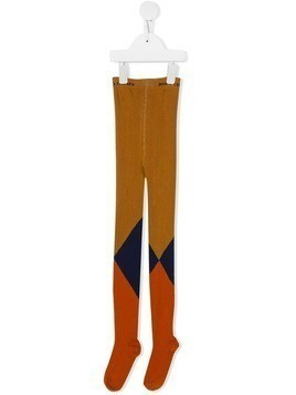Bobo Choses geometric tights - ORANGE