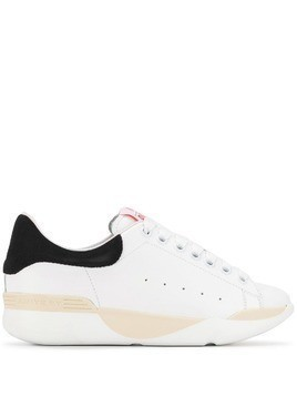 Aniye By panelled wedge sneakers - White