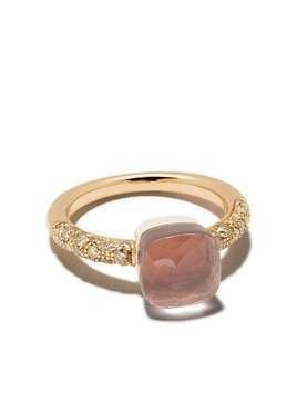 Pomellato 18kt rose gold diamond stone ring - PINK