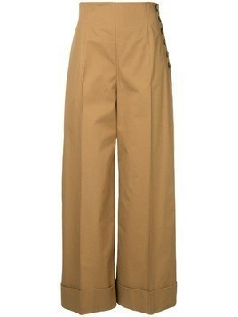 Le Ciel Bleu high-waist flared trousers - Brown