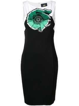 Cavalli Class embroidered floral midi dress - Black