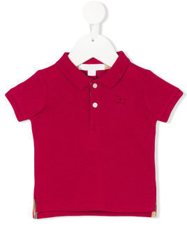 Burberry Kids - classic ribbed polo shirt - Kinder - Cotton - 9 mth - Red