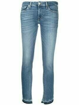 7 For All Mankind low-rise cropped jeans - Blue