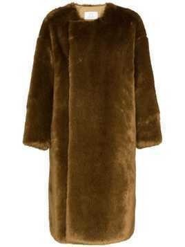 Hyke faux fur reversible coat - Brown