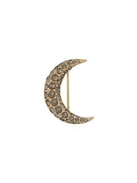 Isabel Marant embellished crescent moon brooch - GOLD