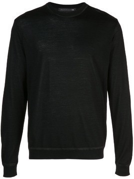Mackintosh 0002 classic knit sweater - Black